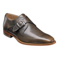 Men's Florsheim Sabato Plain Toe Monk Strap Bronze Printed Leather