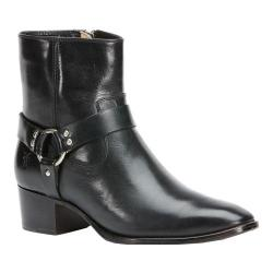 Women's Frye Dara Harness Short Boot Black Leather