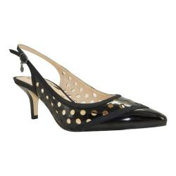 Women's J. Renee Adalyn Slingback Black Faux Patent/Grosgrain Trim