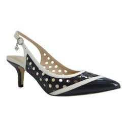 Women's J. Renee Adalyn Slingback Navy/Cream Faux Patent