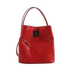 Women's J. Renee BU001 Handbag Red Reptile Print Fabric