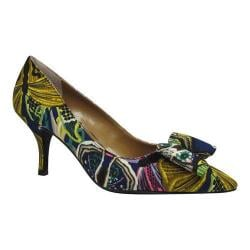 Women's J. Renee Camley Pump Navy Multi Butterfly Graffiti Fabric