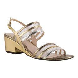 Women's J. Renee Erma Sandal Gold/Bronze Metallic Nappa Leather/Mesh