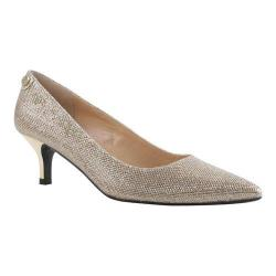 Women's J. Renee Gianna Pump Gold Harlequin Glitter Fabric