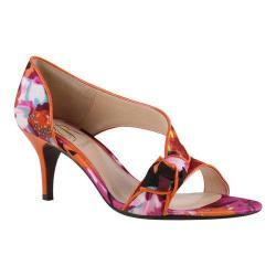 Women's J. Renee Jaynnie D'Orsay Orange/Fuchsia Floral Print Fabric/Faux Patent