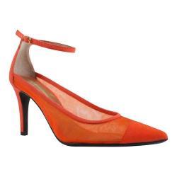Women's J. Renee Jena Ankle Strap Orange Mesh/Suede
