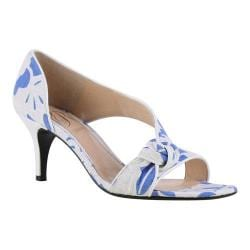 Women's J. Renee Jaynnie D'Orsay Blue/White Floral Lace Fabric/Faux Patent