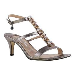 Women's J. Renee Maricel Sandal Taupe Metallic Nappa Leather