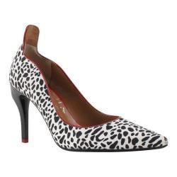 Women's J. Renee Nachelle Pump Black/White Cheetah Print