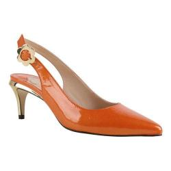 Women's J. Renee Pearla Slingback Orange Pearlized Faux Patent