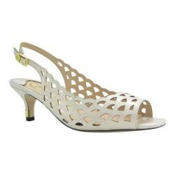 Women's J. Renee Peppi Slingback Cream Faux Patent