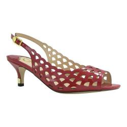 Women's J. Renee Peppi Slingback Red Faux Patent