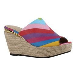 Women's J. Renee Prys Slide Bright Multi Chevron Print Fabric