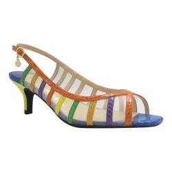 Women's J. Renee Rebeka Slingback Sandal Bright Multi Reptile Print Fabric/Mesh