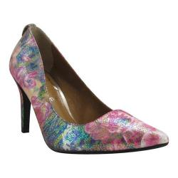 Women's J. Renee Rivka Pump Dark Lilac Multicolored Pebble Floral Print Fabric