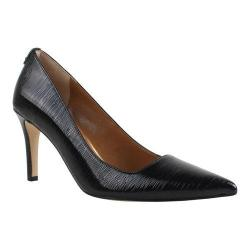 Women's J. Renee Sascha Pump Black Faux Crinkle Patent Leather