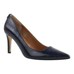 Women's J. Renee Sascha Pump Navy Faux Crinkle Patent Leather