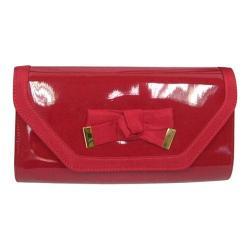 Women's J. Renee SH024 Clutch Red Faux Patent Leather/Grosgrain