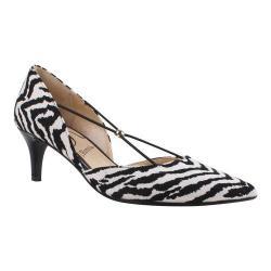 Women's J. Renee Veeva Pump Black/White Zebra Print Fabric