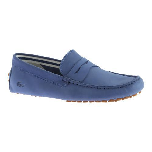c1909c37d5d351 Shop Men s Lacoste Concours 216 1 Driving Moc Dark Blue Leather - Free  Shipping Today - Overstock - 11943654