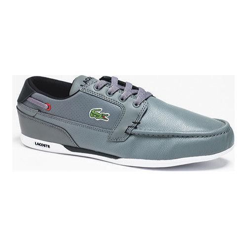 6f37e9b9a405 Shop Men s Lacoste Dreyfus QS1 Sneaker Grey Black Leather - Free Shipping  Today - Overstock - 11943671