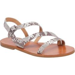 Women's Lucky Brand Alexcia Strappy Sandal Grey Combo Leather