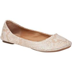 Women's Lucky Brand Emmie Flat White Gold Metallic Leather