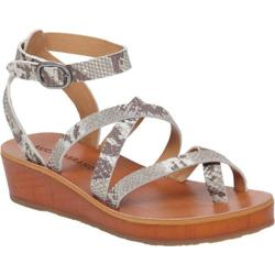 Women's Lucky Brand Honeyy Toe Loop Sandal Grey Leather