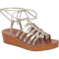 Women's Lucky Brand Hulumi Gladiator Sandal Gold Metallic Leather