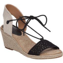 Women's Lucky Brand Kasidee Espadrille Wedge Sandal Black Textile