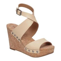 Women's Lucky Brand Missey Ankle Strap Cork Sandal Natural Leather