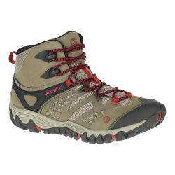 Women's Merrell All Out Blaze Vent Mid Waterproof Hiking Boot Brown
