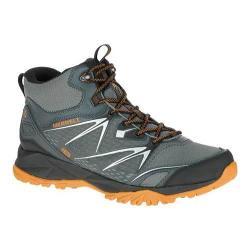 Men's Merrell Capra Bolt Mid Waterproof Hiking Boot Grey/Orange