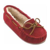 Women's Minnetonka Cally Slipper Red Suede