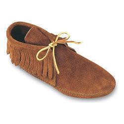 Women's Minnetonka Classic Fringed Boot Softsole Medium Brown