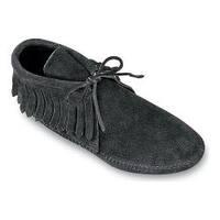 Women's Minnetonka Classic Fringed Boot Softsole Black