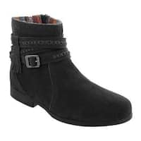 Women's Minnetonka Dixon Boot Black Suede