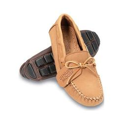 Men's Minnetonka Genuine Moose Driving Mocs Natural Moose (More options available)