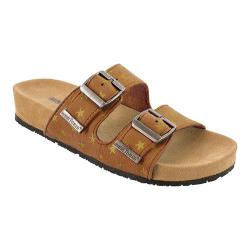 Girls' Minnetonka Gigi Slide Brown Synthetic/Gold Stars