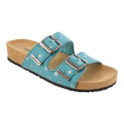 Girls' Minnetonka Gigi Slide Turquoise Synthetic/Silver Stars