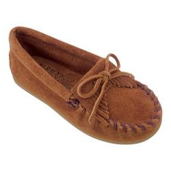 Children's Minnetonka Kilty Suede Moc Brown Suede (More options available)