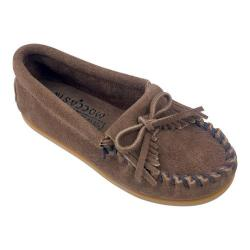 Children's Minnetonka Kilty Suede Moc Dusty Brown Suede (More options available)