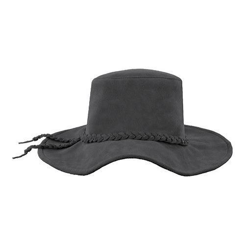 88d1e4a9434 Shop Women s Minnetonka Parker Floppy Wide Brim Hat Grey Suede - Free  Shipping Today - Overstock.com - 11945674