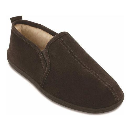 a9de7d6237358 Men s Minnetonka Pile Lined Romeo Slipper Chocolate Suede - Free Shipping  Today - Overstock - 18833088