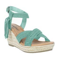 Women's Minnetonka Naomi Ankle Strap Sandal Mint Suede