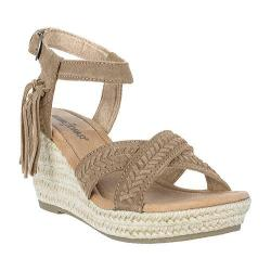 Women's Minnetonka Naomi Ankle Strap Sandal Taupe Suede