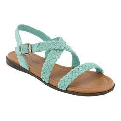 Women's Minnetonka Santaorini Sandal Mint Suede