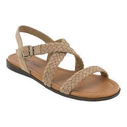 Women's Minnetonka Santaorini Sandal Taupe Suede