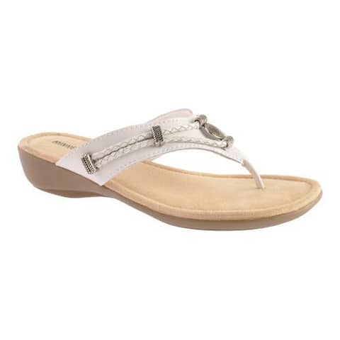 Women's Minnetonka Silverthorne Thong White Leather