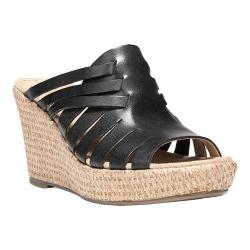 Women's Naturalizer Noely Slide Wedge Sandal Black Hispacho Leather